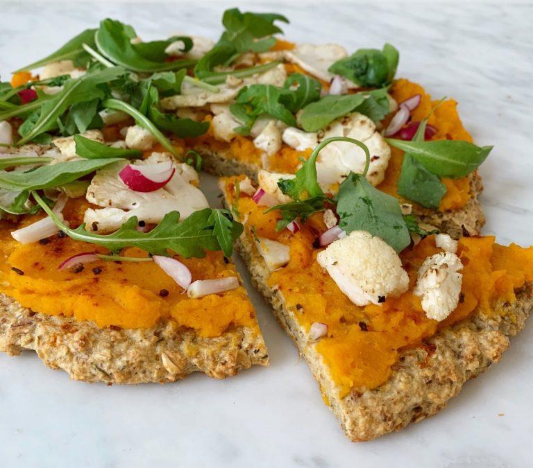 Helle Detavernier: Havermout pompoen pizza