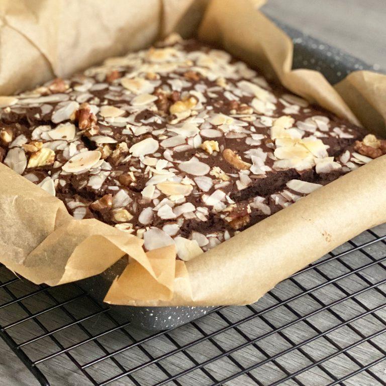 brownie van zwarte bonen (gezond)