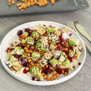 romanesco vegetarische lunch tofu kikkererwten