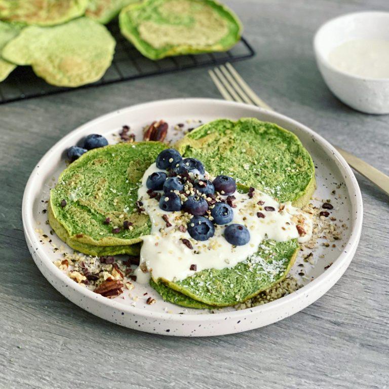 pannenkoeken gierst spinazie ontbijt