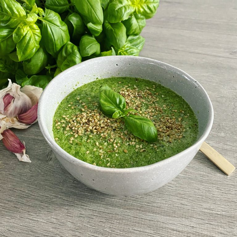 koude soep komkommer basilicum spinazie